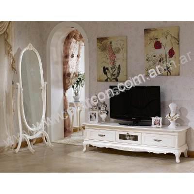 Mueble bajo de tv estilo frances el arc n for Muebles estilo industrial buenos aires